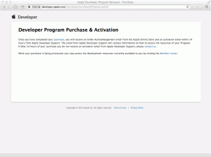 Developer Program Purchase & Activation