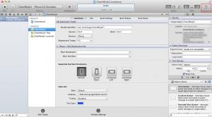 Xcodeの右上の方のボタンでOrganizerを開く