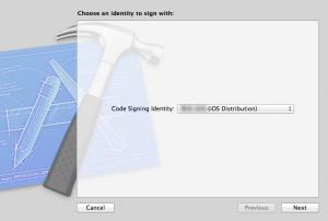 AdHoc用のCode Signingを選択