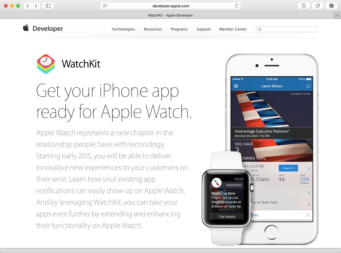 Apple Watch開発環境「Xcode 6.2 beta with WatchKit」をiOS開発者向けにリリース