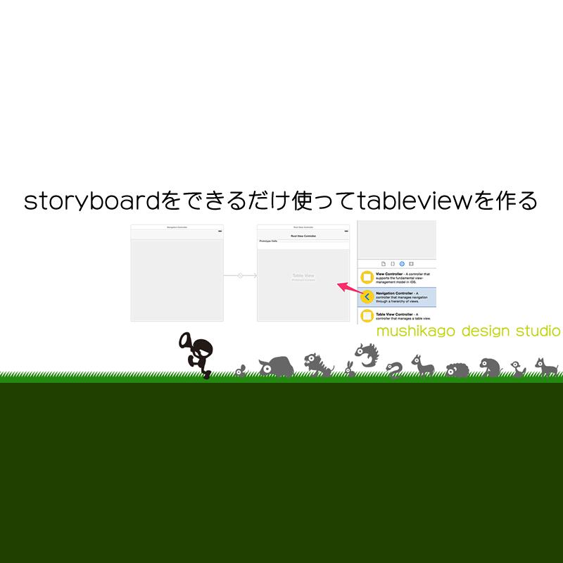 [Xcode6.3+Swift1.2] storyboardをできるだけ使ってtableviewを作る(1)